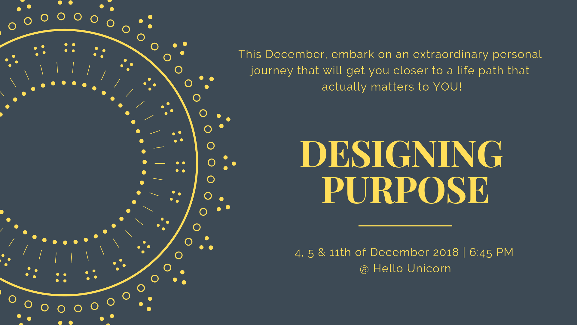 Designing Purpose